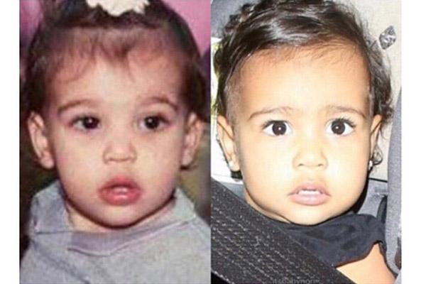 Слева Ким, справа ее дочь Норт