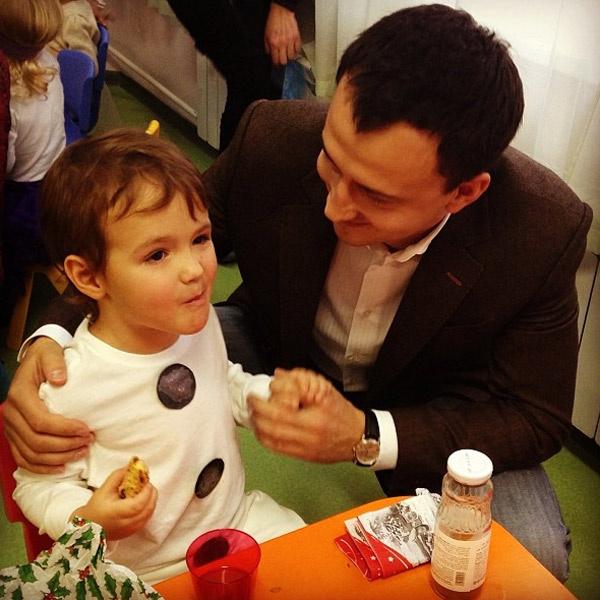 Алексей Малакеев с сыном