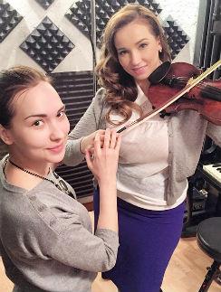 Анфиса Чехова с преподавателем