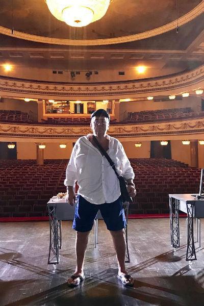 Станислав Садальский на сцене Рижского Оперного театра, лето 2018