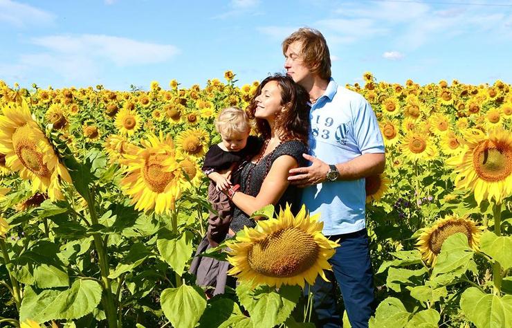 Екатерина Плотко с мужем и сыном
