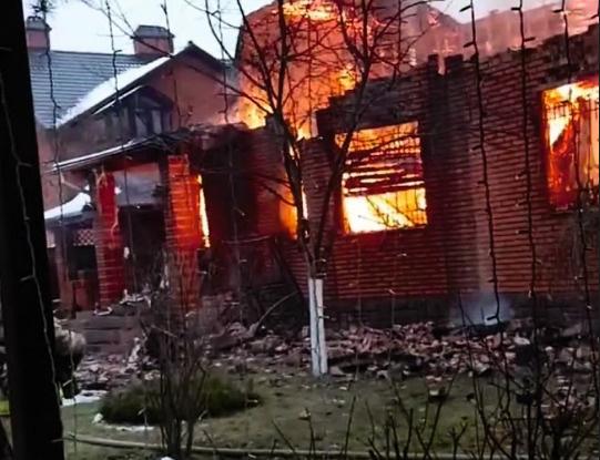 Дом сгорел за полтора часа