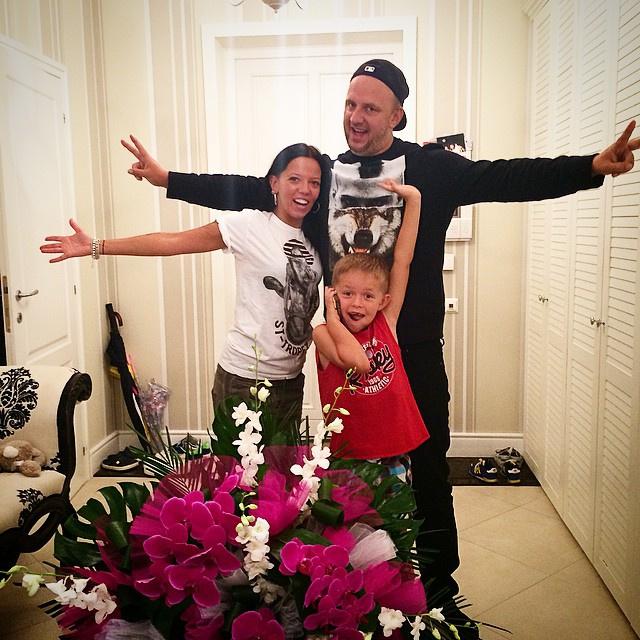 Потап с бывшей женой и сыном Андреем