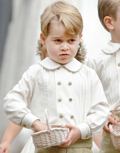 Джордж на свадьбе Пиппы Миддлтон