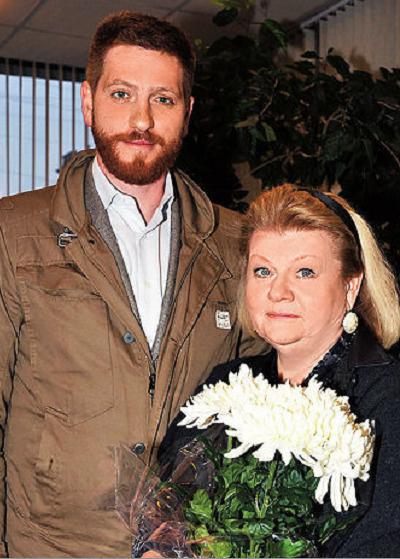 Ирина Вадимовна с сыном Евгением