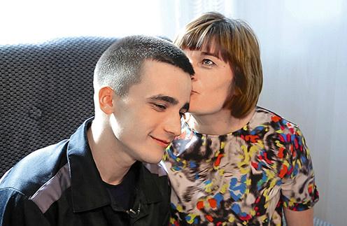 Сергей Семенов с мамой Ольгой