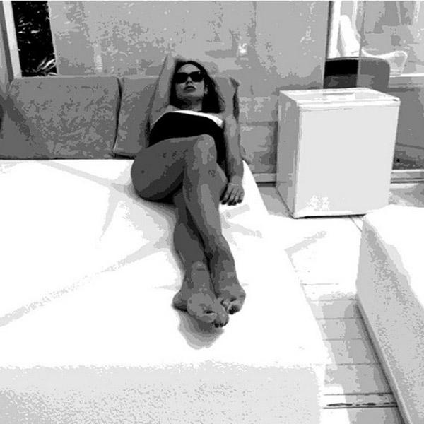 Гимнастка на отдыхе. Снимок Павла Воли
