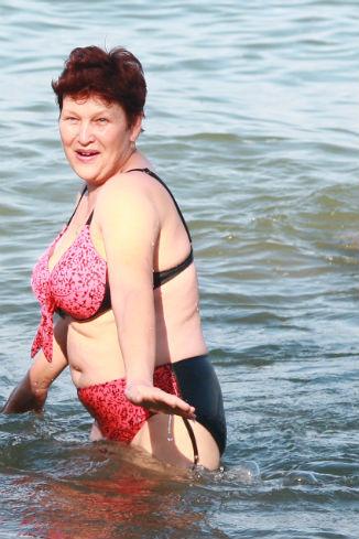 Салима Нигматова первый раз оказалась на море