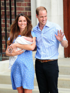 Кейт Миддлтон и принц Уильям с сыном Георгом