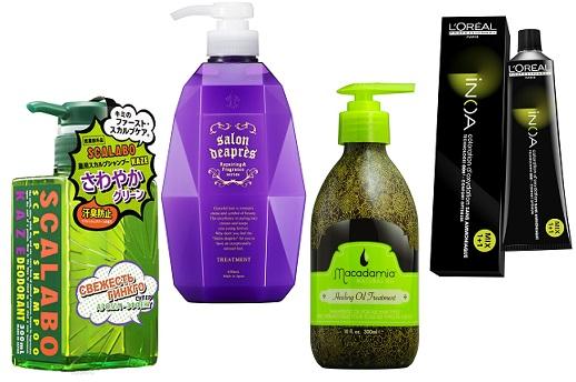 Dear Jungle Шампунь для волос, Salon Deapres Уход для волос Treatment, Macadamia Аргановое масло для волос Natural Oil, L'Oreal Professionnel Краска для волос INOA