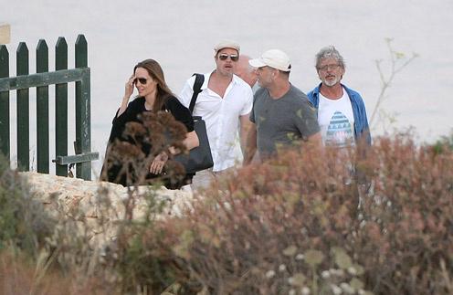Анджелина и Брэд на Мальте