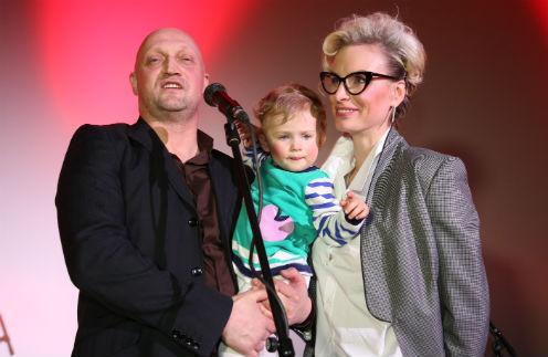 Гоша Куценко с супругой и дочкой