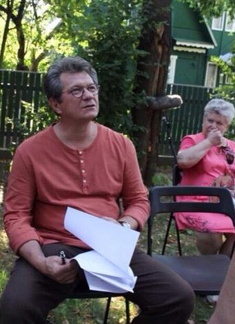 Андрей Ильин на съемках
