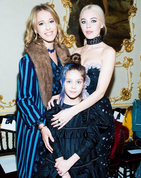 Ксения Собчак, Ульяна Сергеенко и ее дочь Василиса