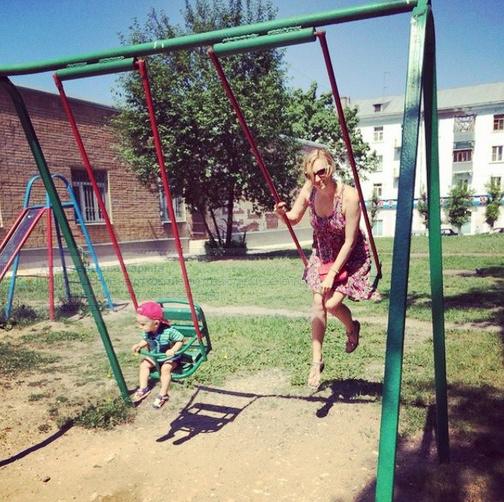 Ольга Гажиенко с сыном Кириллом