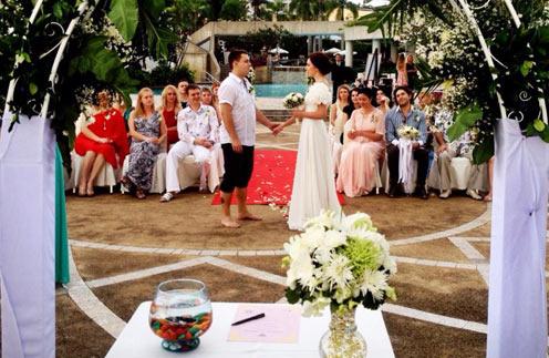 Свадьба Елены и Алексея. В первом ряду - Андрей Малахов