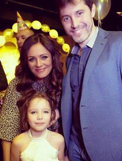 Юлия с Александром Фроловым на дне рождения дочки Веры