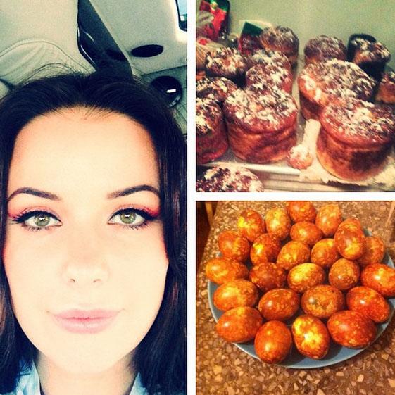 «Пасха и яйца к освящению готовы!» - восторженно отчиталась о готовности к празднику Оксана Федорова