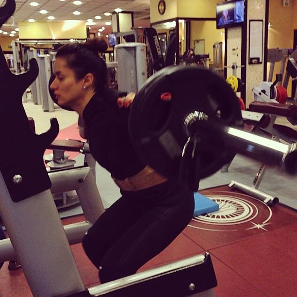 Тина Канделаки тягает 50 кг