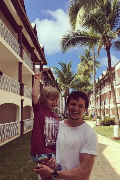 Антон Гусев поддерживает общение с сыном после развода
