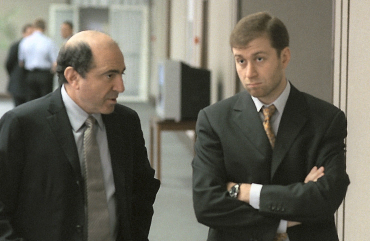 Борис Березовский с Романом Абрамовичем