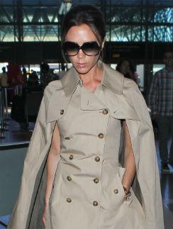 Виктория Бекхэм в лондонском аэропорте