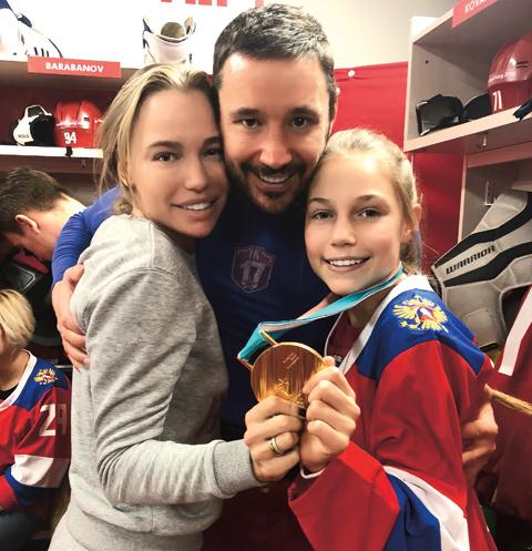 Илья и Николь с дочкой Каролиной