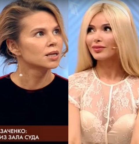 Казаченко ударил бывшую жену прямо взале суда