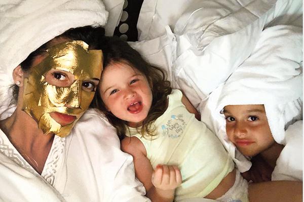 Ксения Бородина вместе с дочками