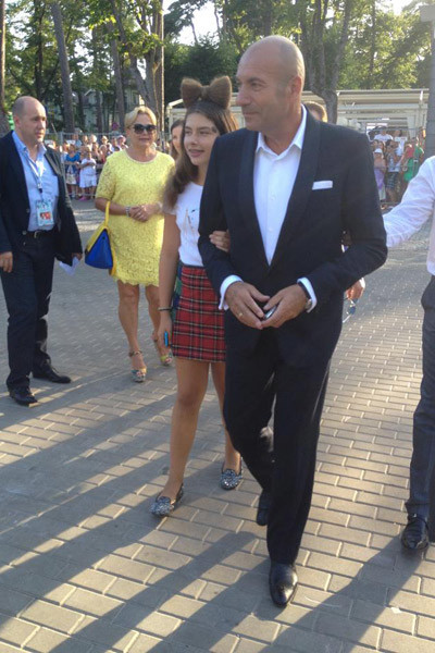 Игорь Крутой с дочкой Александрой