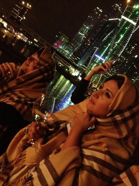Жасмин и Валентин Юдашкин кутались на палубе в теплые пледы