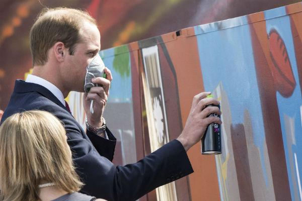 Принц Уильям почувствовал себя граффитчиком