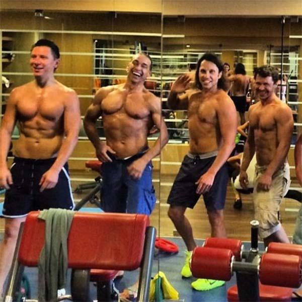 Тимур Батрутдинов, Сергей Глушко, Александр Ревва и Павел Деревянко даже в Сочи не пропускают тренировок!