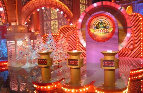 Новогодние декорации передачи «Угадай мелодию», которая вышла на экраны в начале 2013 года.