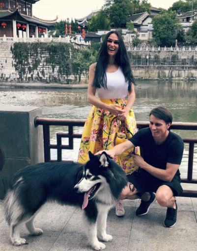 Алена Водонаева с мужем