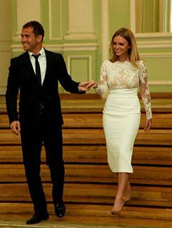 Александр Кержаков и Милана Тюльпанова зарегистрировали брак в Петроградском загсе Санкт-Петербурга