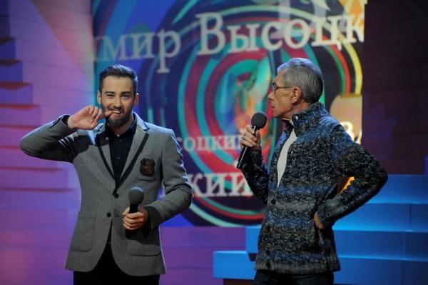 Дмитрий Шепелев и Юрий Николаев на съемках шоу «ДОстояние РЕспублики»