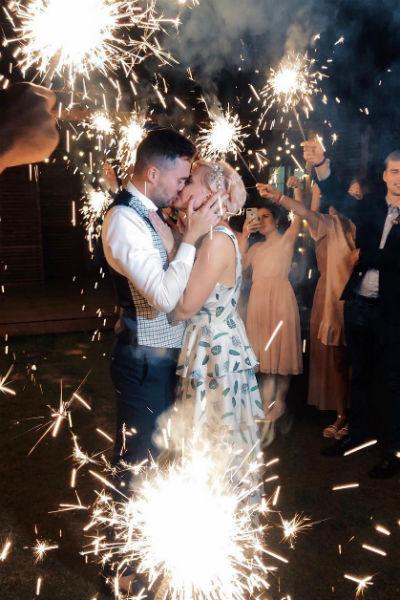 Свадебная церемония получилась красивой и романтичной