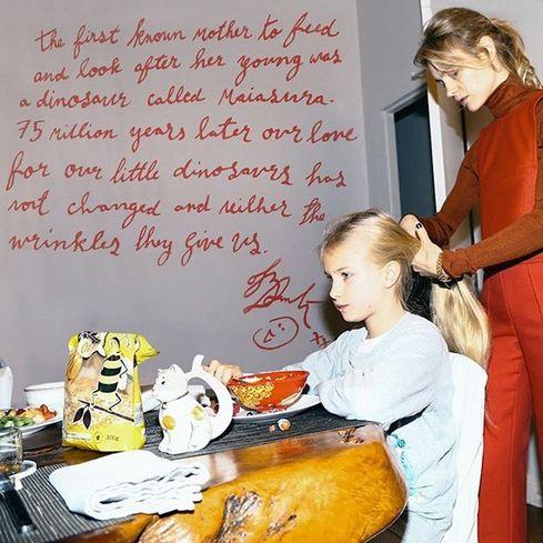 Наталья Водянова с дочерью Невой