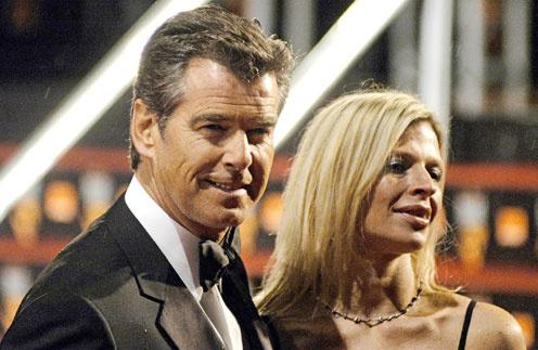 Пирс Броснан часто появлялся на различных мероприятиях в компании дочери