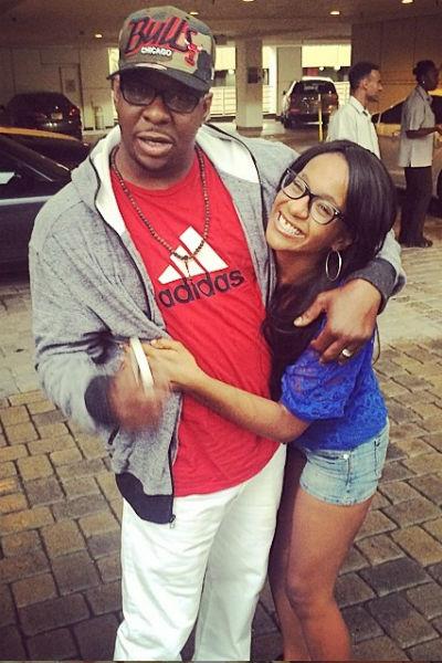 Бобби Кристина со своим отцом, известным R&B-исполнителем Бобби Брауном
