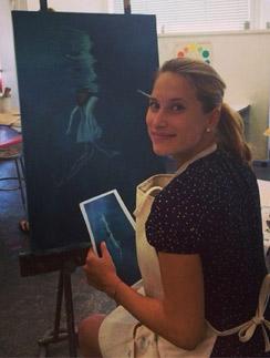Во время беременности Марика увлеклась уроками живописи