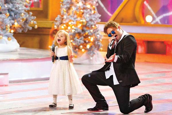 Дочка Виталия стала звездой, спев с ним на шоу «Один в один!»