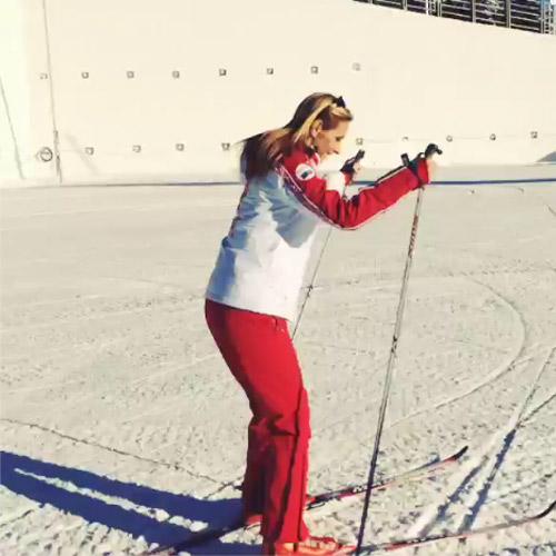 Татьяна Навка сменила коньки на лыжи