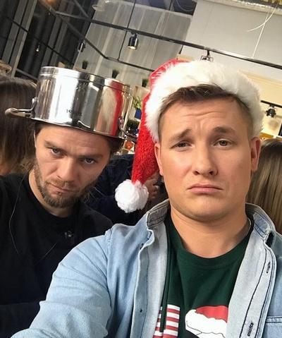 Александр Белькович на съемках своего кулинарного шоу