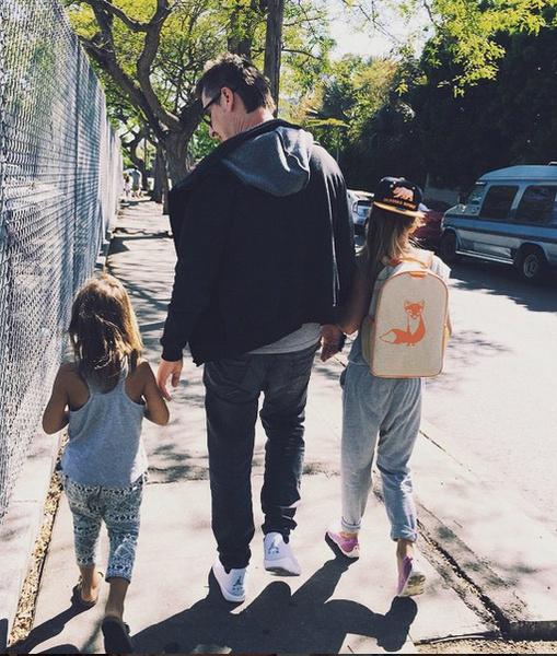 Дмитрий Алмазов с детьми Саши Василисой и Макаром в Лос-Анджелесе