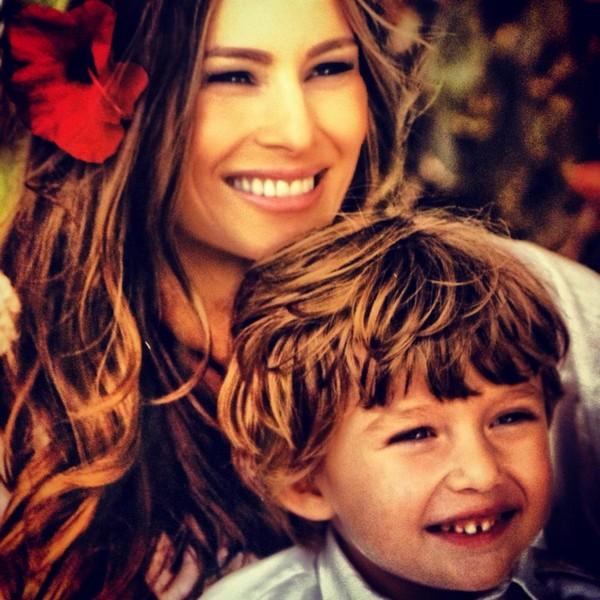 Мелания с сыном Бэрроном Уильямом