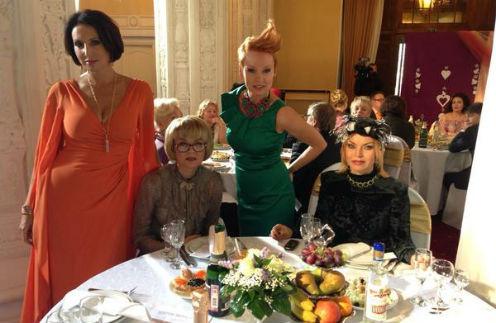 Алика Смехова, Юлия Меньшова, Жанна Эппле и Лада Дэнс на съемках нового сезона