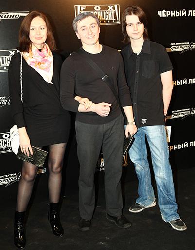 Ирина и Сергей Безруковы с сыном Ирины Андреем Ливановым