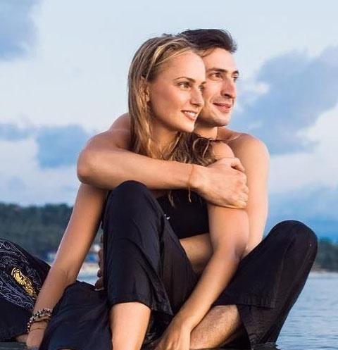 Алексей Лемар с женой Мариной